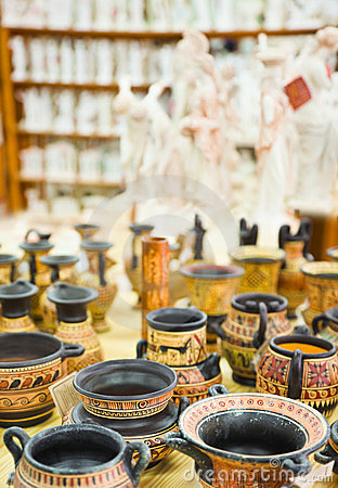 Ceramics souvenir shop