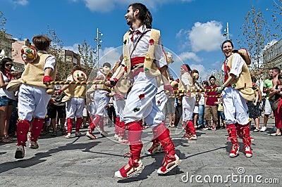 Cercavila Festa Major Vilafranca del Penedés Editorial Stock Image