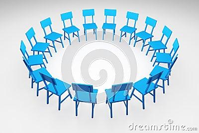 Cerchio Delle Sedie Fotografia Stock Libera da Diritti - Immagine ...