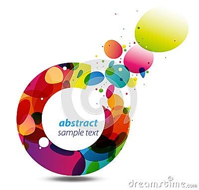 Cercle de fond de couleurs