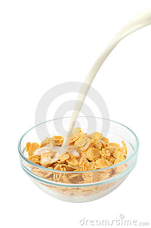 Cereal flakes breakfast