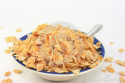 Cereal Flakes In A Breakfast Bowl