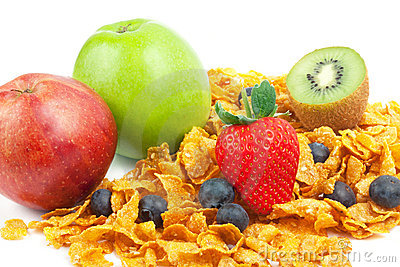 Cereal with fruits