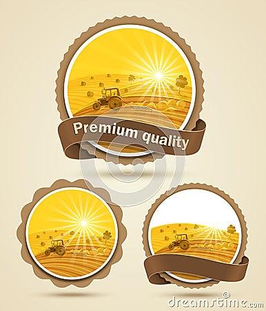 Cereal harvest label