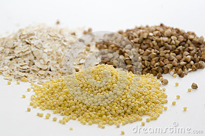 Cereal of oat, buckwheat and millet