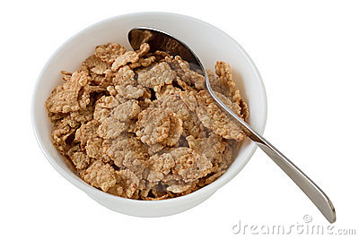 Cereals in the bowl