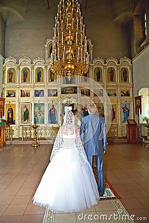 Ceremonia de boda en iglesia cristiana