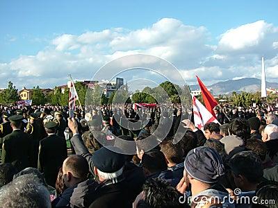 Ceremonia fúnebre de Rauf Denktas Foto de archivo editorial