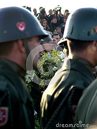 Ceremonia fúnebre de Rauf Denktas Imagen de archivo editorial