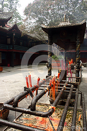 Free Ceremonial Courtyard, Sichuan Province, China Royalty Free Stock Photography - 28623217