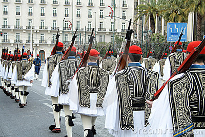 Ceremonial parade in Athens Editorial Image