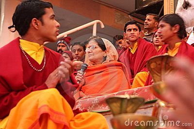 Ceremonial in Rishikesh Editorial Stock Photo