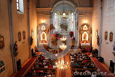 Ceremony in catholic church Editorial Photography