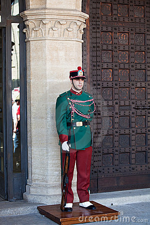 Ceremony of Changing the Guards in San Marino Editorial Stock Photo