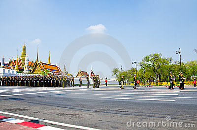 Ceremony of cremation Princess Thailand. Editorial Stock Photo