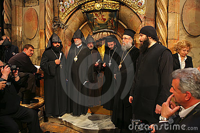 Ceremony of Holy Fire miracle Editorial Image