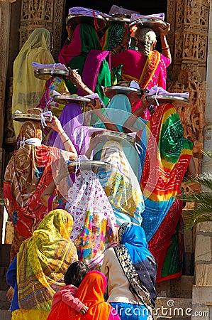 Free Ceremony Jain At Ranakpur Temple. Royalty Free Stock Image - 9285586