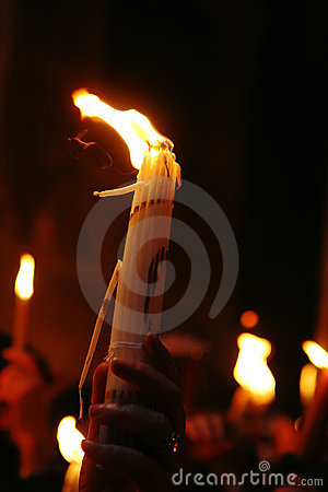 Free Ceremony Of Holy Fire Miracle Stock Photography - 9109642