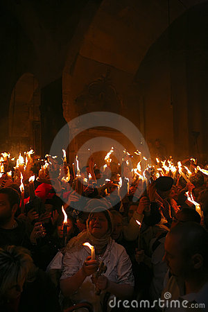Free Ceremony Of Holy Fire Miracle Stock Photo - 9193710