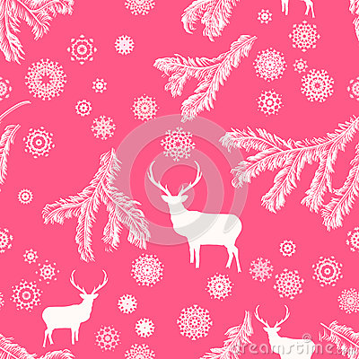 Cerfs communs de Noël, illustration sans couture. ENV 8