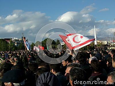 Cerimónia de funeral de Rauf Denktas Foto Editorial