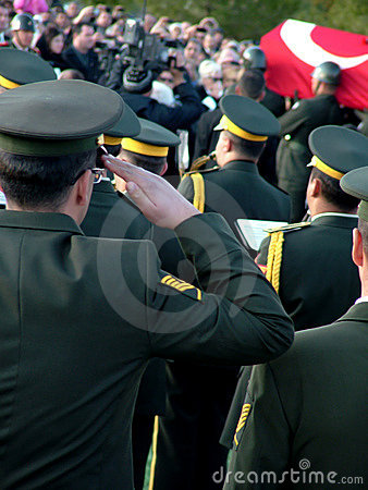 Cerimónia de funeral de Rauf Denktas Imagem Editorial
