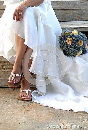 Cerimonia nuziale del vestito dalla sposa