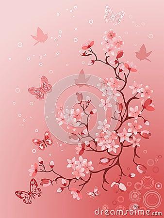 cerisier japonais photos libres de droits image 12913728. Black Bedroom Furniture Sets. Home Design Ideas
