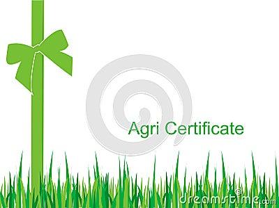 Certificado de la agricultura