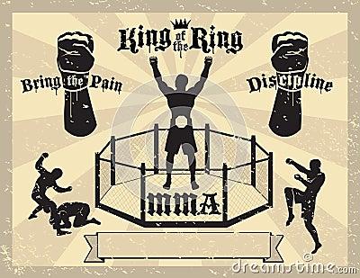 Certificado misturado das artes marciais de MMA