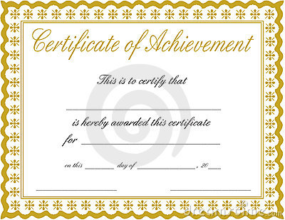 Certificate Of Achievement Template Horizontal Vector – Template Certificate of Achievement