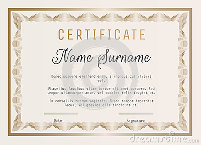 Certificate of appreciation vector template with guilloche border certificate of appreciation vector template with guilloche border vector illustration yadclub Gallery