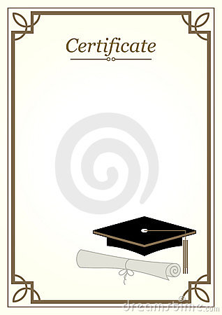 Certificate Border Stock Images - Image: 26000564