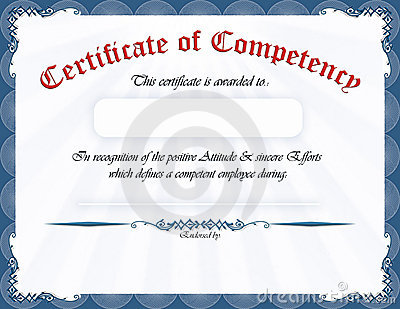 Certificate of competency royalty free stock photo image for Competency certificate template