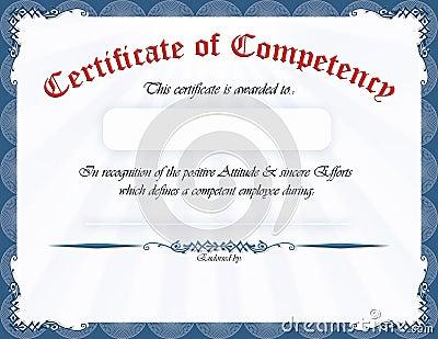 Elegant Blue frame, horizontal certificate / award. Formal English ...