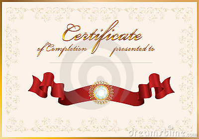 Certificate Of CompletionTemplate Royalty Free Photo – Certificate of Completion Template Free