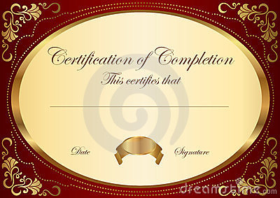 Certificate / Diploma Award Template. Frame Stock Photo ...