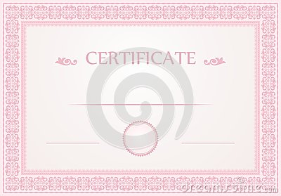 Certificate Design Stock Vector - Image: 50435969