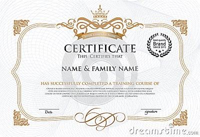 illustrator certificate template - certificate design template stock vector image 55469929