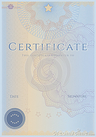 Free Certificate / Diploma Award Template. Pattern Stock Photography - 28587792