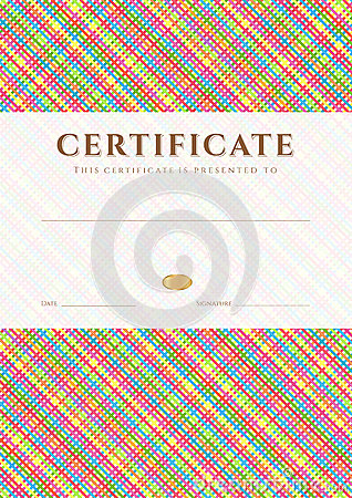 Free Certificate / Diploma Award Template. Pattern Royalty Free Stock Photography - 34832177