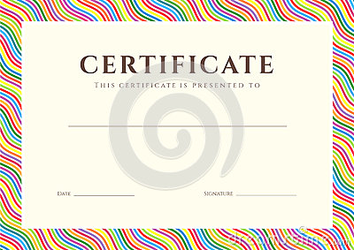 Certificate / Diploma Background (template) Royalty Free ...