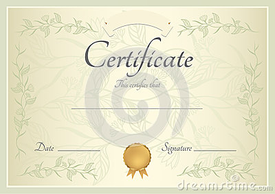 Certificate / Diploma background (template)