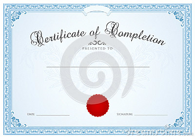 Certificate / Diploma Background Template. Floral Royalty ...