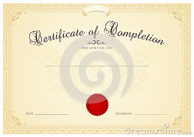 certificate diploma background template floral stock
