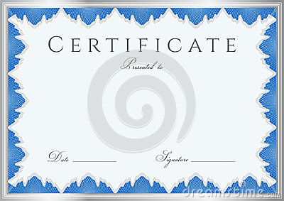 Certificate / Diploma Background (template). Frame Stock ...