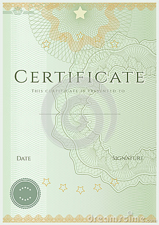 Free Certificate / Diploma Background Template. Pattern Royalty Free Stock Photos - 31390848