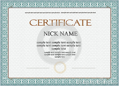 Certificate Diploma For Print Vector Image 70177401 – Money Certificate Template