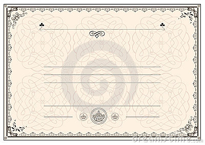 Certificate Frame Border Royalty Free Photos Image 23498958 – Free Download Certificate Borders