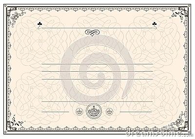 Certificate frame border